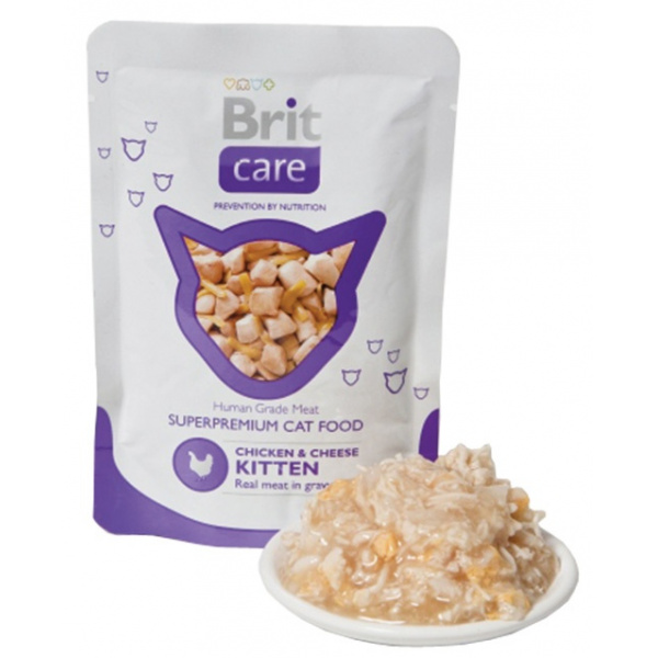Kapsička brit care kitten pouches chicken & cheese 80g