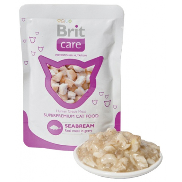 Kapsička brit care cat pouches seabream 80g