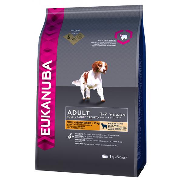 Eukanuba adult small & medium breed lamb 1kg