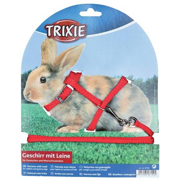 Postroj pro králíky trixie 25-44cm*8mm*1,3m
