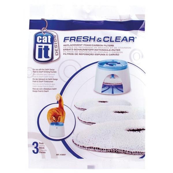 Náplň uhlíkový molitan do menší fontány cat it fresh & clear 3ks