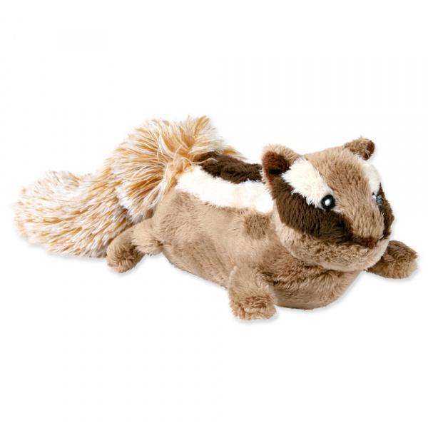 Hračka pro psy trixie plyšová veverka se zvukem 28cm