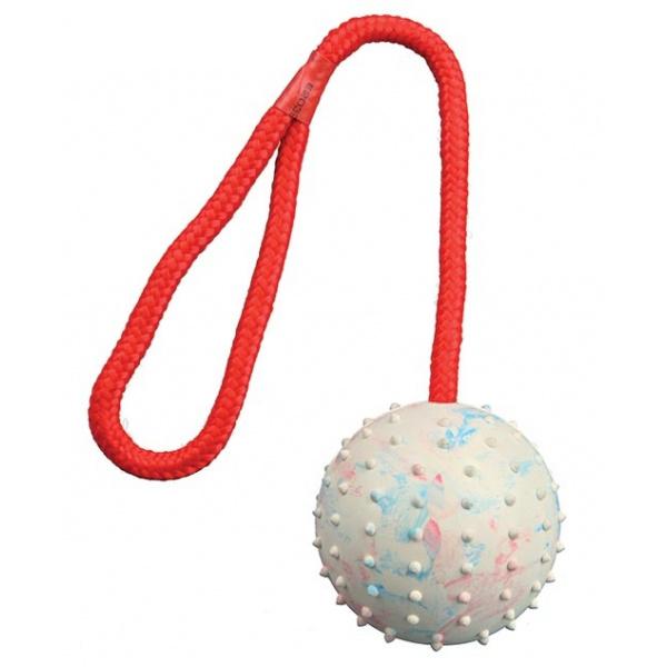 Hračka pro psy míč na laně trixie 7cm*30cm