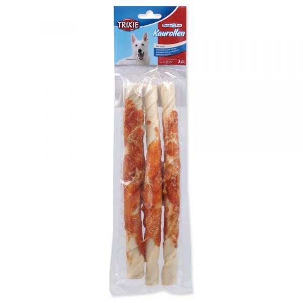 Žvýkací tyčinky pro psy denta fun trixie s kuřecím masem 28cm*250g 3ks
