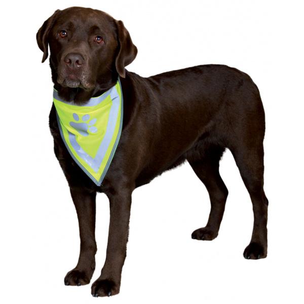 Šátek pro psy reflexní trixie s-m 29-40cm