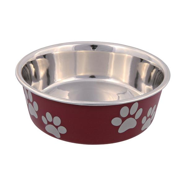 Miska nerezová pro psy Trixie s plastovým povrchem 12cm*250ml
