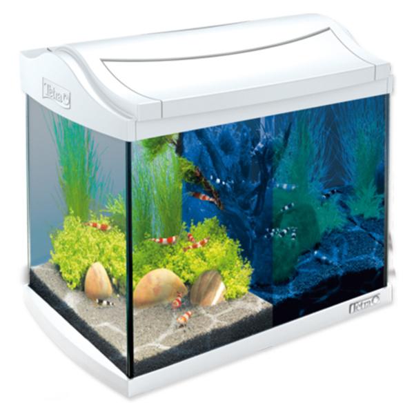 Akvárium set tetra aquaart led bílý 20l
