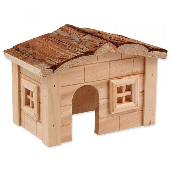 Domek small animal dřevěný jednopatrový 20,5 x 14,5 x 12 cm