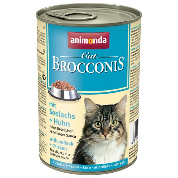 Konzerva animonda brocconis treska + kuře 400g
