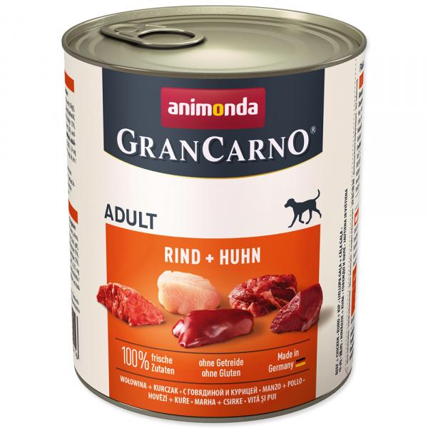 Konzerva animonda gran carno hovězí + kuře 800g