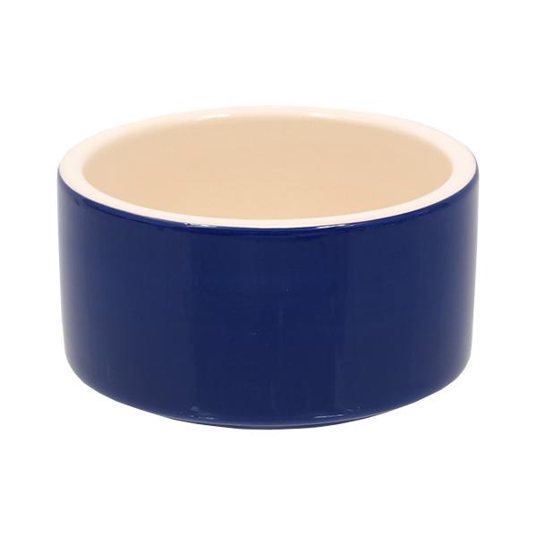 Miska small animal keramická modrá 10 cm
