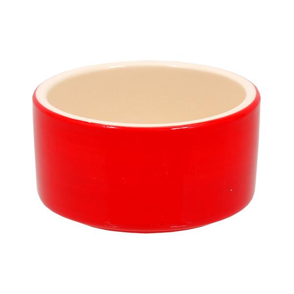Miska small animals keramická červená 10cm