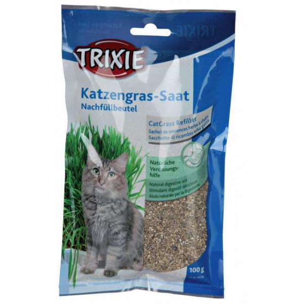 Tráva pro kočky Trixie sáček 100g