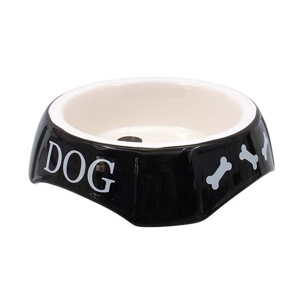 Miska dog fantasy potisk dog černá 18,5x5,5cm