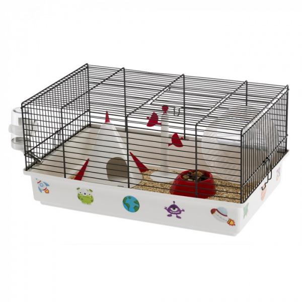 Cage criceti 9 space white 46x29,5x23cm