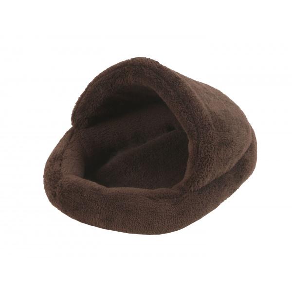 Pelíšek papuče hnědý pro hlodavce