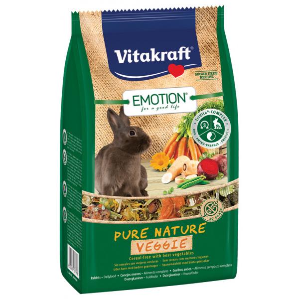 Krmivo vitakraft emotion veggie králík 600g