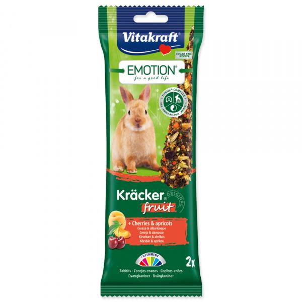 Tyčinky Vitakraft Emotion kracker králík ovocný 2ks