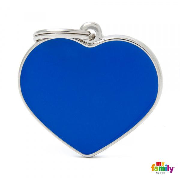 Známka My Family Basic Handmade srdce velké modré
