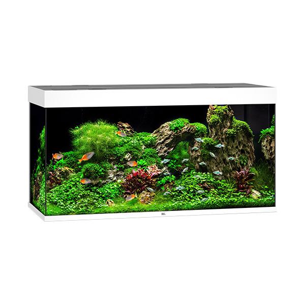 Akvárium set rio led 350 121x51x66cm bílé 350l