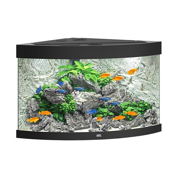 Akvárium set trigon led 190 černé 98,5x70x60cm 190l