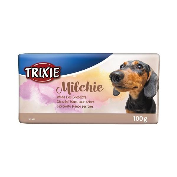Pamlsek pro psy trixie čokoláda bílá 100g
