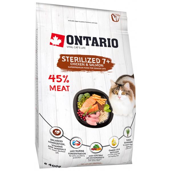 Ontario cat sterilised 7+ 0,4 kg