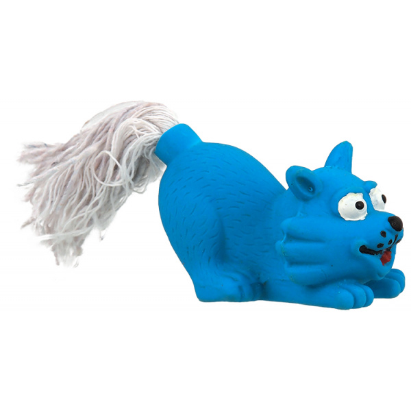 Hračka dog fantasy latex mini kočka modrá zvuk 7cm