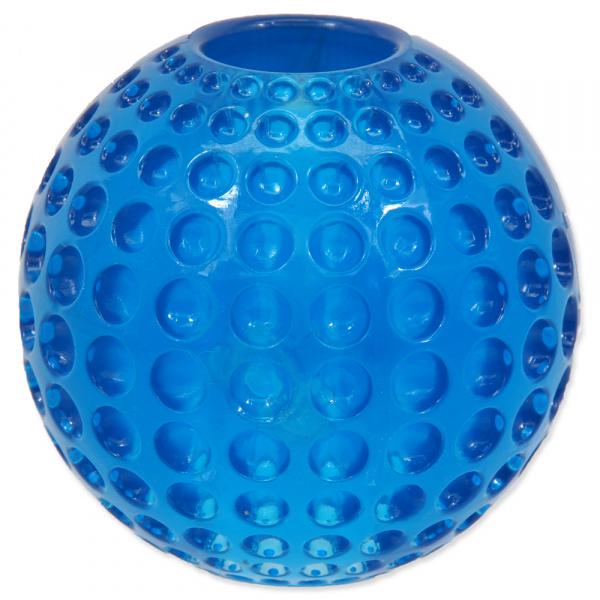 Hračka Dog Fantasy STRONG míček guma s důlky modrá 6,3cm