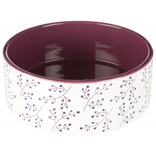 Miska keramická 20cm bílo-vínová 1,4l