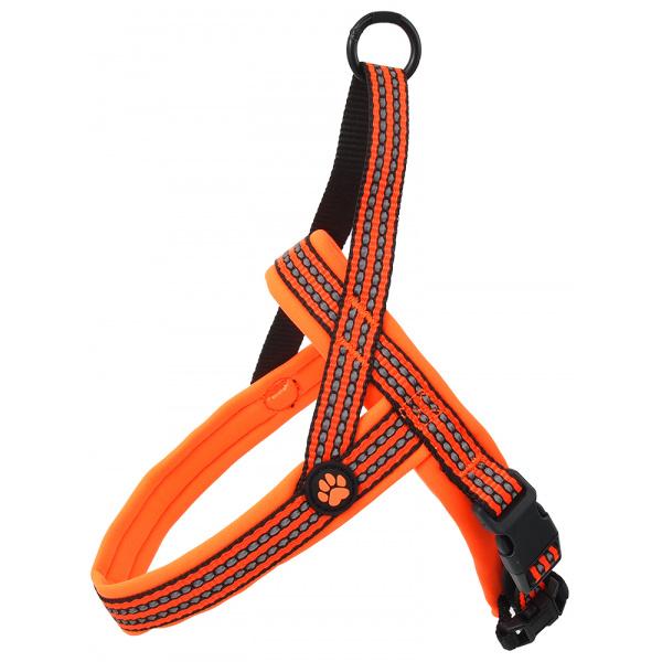 Postroj Active Dog Neoprene XS oranžový 1,5x40-45cm