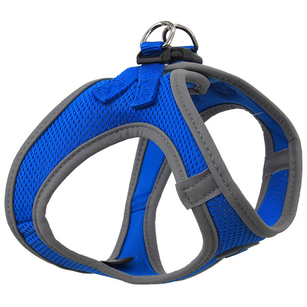 Postroj dog fantasy puppy xs modrý 32-36cm