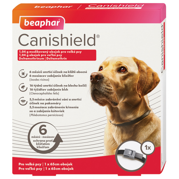 Antiparazitní obojek pro velké psy Beaphar Canishield® 65cm