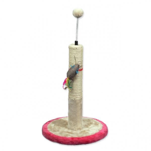 Škrabadlo magic cat stella s hračkou béžovo-růžové 45cm