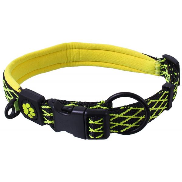 Obojek Active Dog Mystic L limetka 2,5x53-64cm