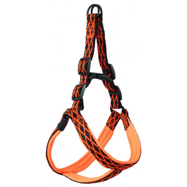 Postroj Active Dog Mystic S oranžový 1,5x38-50cm