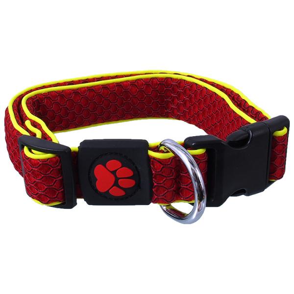 Obojek Active Dog Mellow L červený 3,2x42-67cm