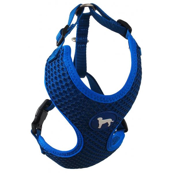 Postroj Active Dog Mellow S tm. modrý 1,5x35-47cm