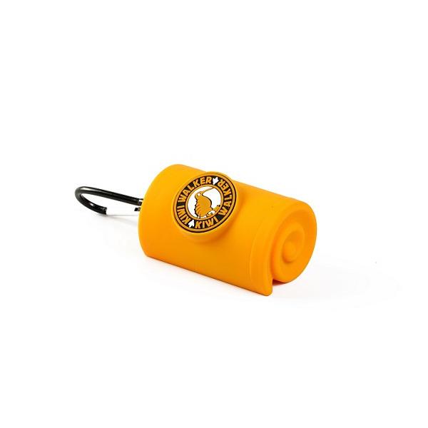 Zásobník Kiwi Walker na sáčky na exkrementy oranžový 9cm