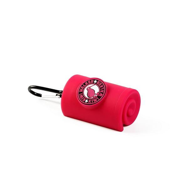 Zásobník Kiwi Walker na sáčky na exkrementy růžový 9cm