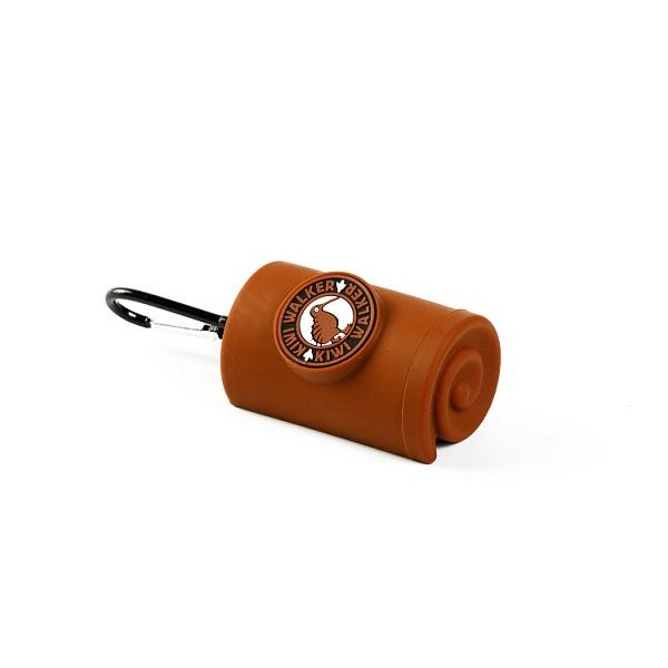 Zásobník Kiwi Walker na sáčky na exkrementy hnědý 9cm