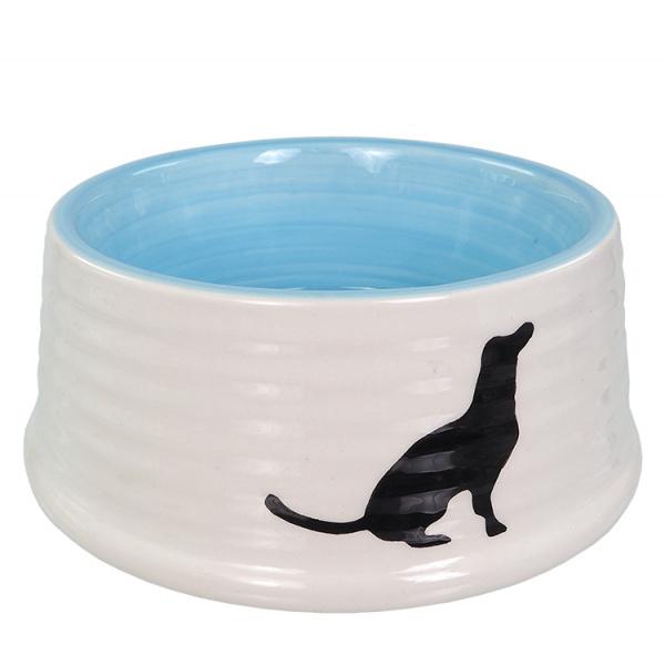 Miska dog fantasy keramická motiv pes bílo-modrá 0,44l