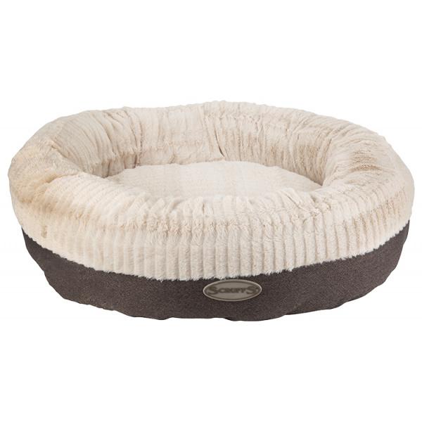 Pelíšek Scruffs Ellen Donut XL 75cm šedý