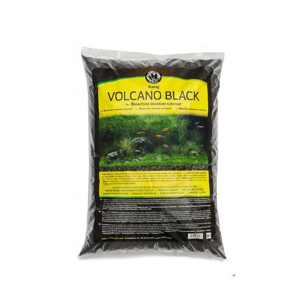 Volcano Black Rataj černý akvarijní substrát 8l
