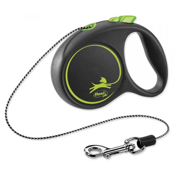 E-shop Vodítko Flexi Black Design lanko XS 3m zelené
