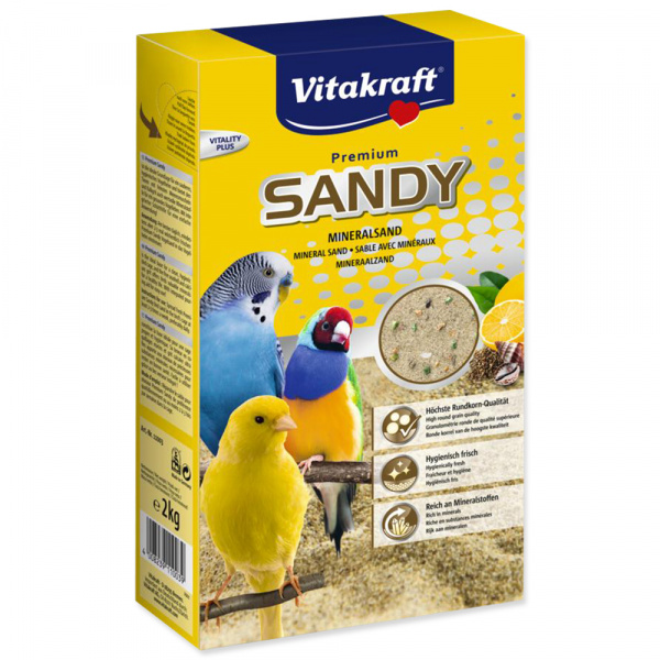 Písek Vitakraft Vita Sandy písek pro malé papoušky 2kg