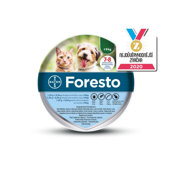 Obojek Foresto antiparazitní malé psy a kočky 38cm