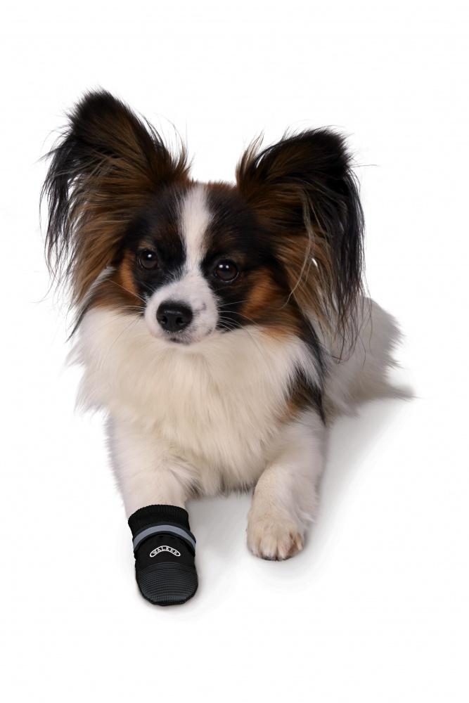Boty pro psy trixie walker care comfort černé 2ks xs