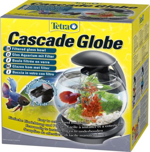 Akvárium set tetra cascade led černý 6,8l