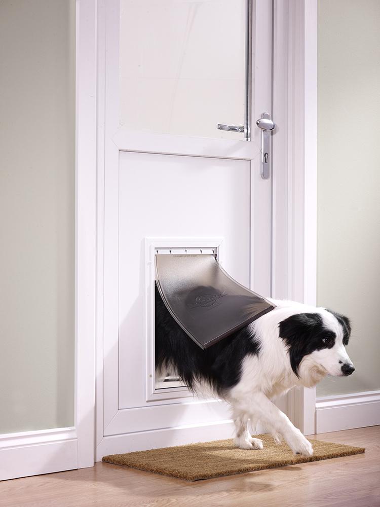 Dvířka staywell hliníková bílá 640